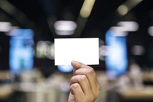 Holding Paper Card (PNG)