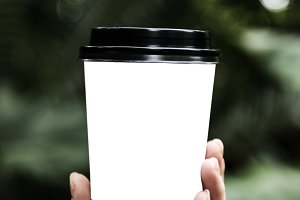 Holding Paper Cup (PNG)