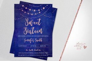 Birthday Invitation Sweet Sixteen