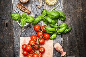 Ingredients for tasty italian food