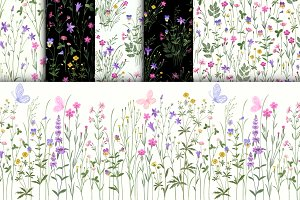 patterns with meadow flowers