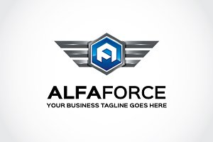 Alfa Force Logo Template