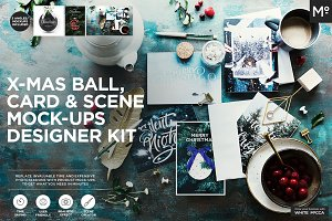 X-mas Ball, Card & Scene Mock-ups