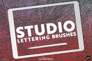 12 Lettering Brushes for Procreate