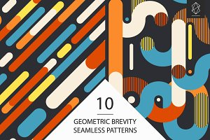 Geometric brevity seamless patterns