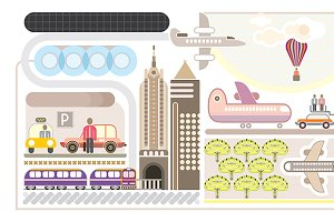 Airport vector illustartion