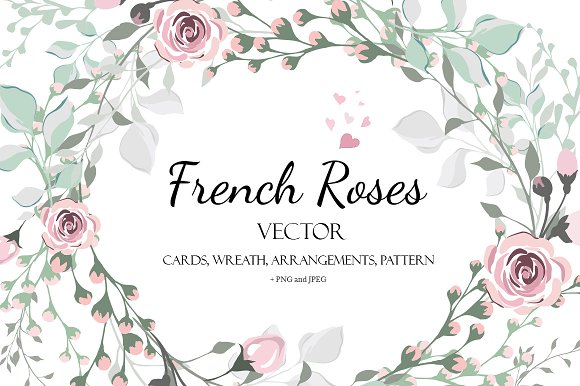 Vector design invitation french rose invitation templates vector design invitation french rose invitation templates creative market stopboris