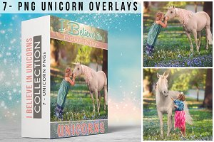 7 - Real Unicorn PNGs - Collection