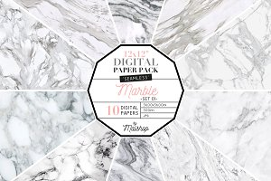 Seamless Digital Paper - Marble