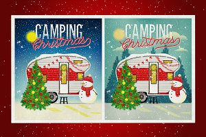 Christmas Travel Trailer