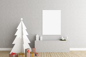 Christmas background - art mockup