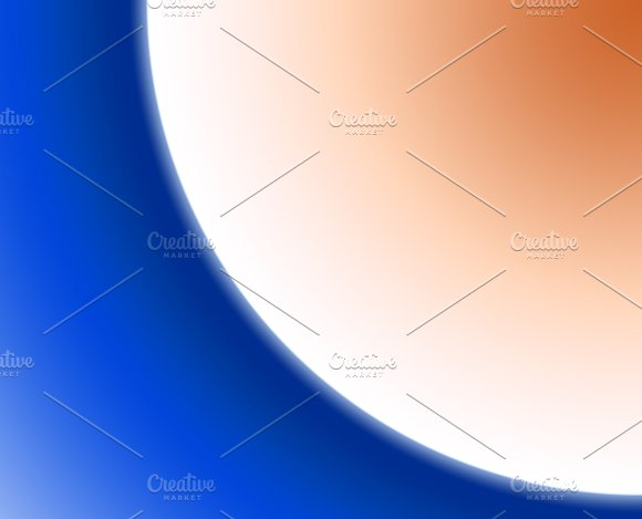 Background Of Abstract Circular Shapes Of Blue White An Brown