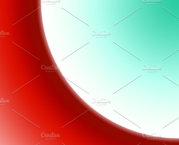 Background Of Abstract Circular Shapes Of Red White And Blue