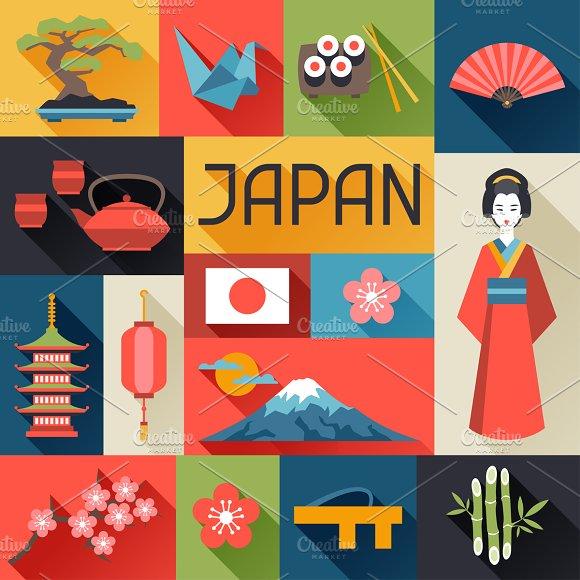 Japan backgrounds design.
