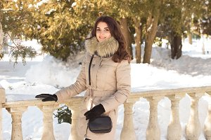 Amazing cute woman in winter