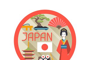 Japan backgrounds design.