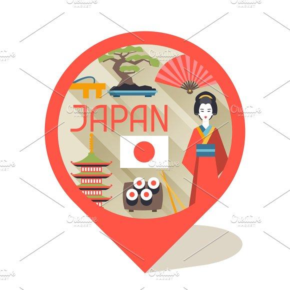 Japan backgrounds design. in Illustrations