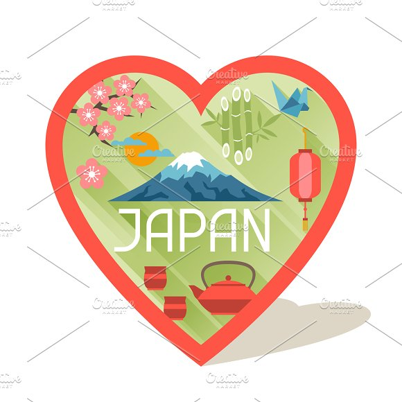 Japan backgrounds design. in Illustrations - product preview 1