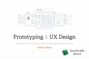 Tiles for Wireframes & Flowcharts V3