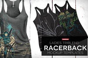 Ladies Tri Racerback Tank Mockups
