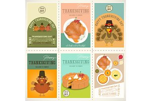 Thanksgiving Day Posters Set