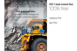 Instant ios 7 blur for photoshop