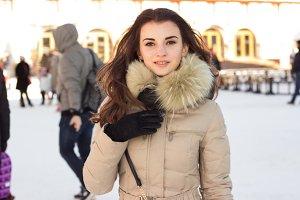 Beauty woman in winter