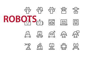 20 Robots UI icons
