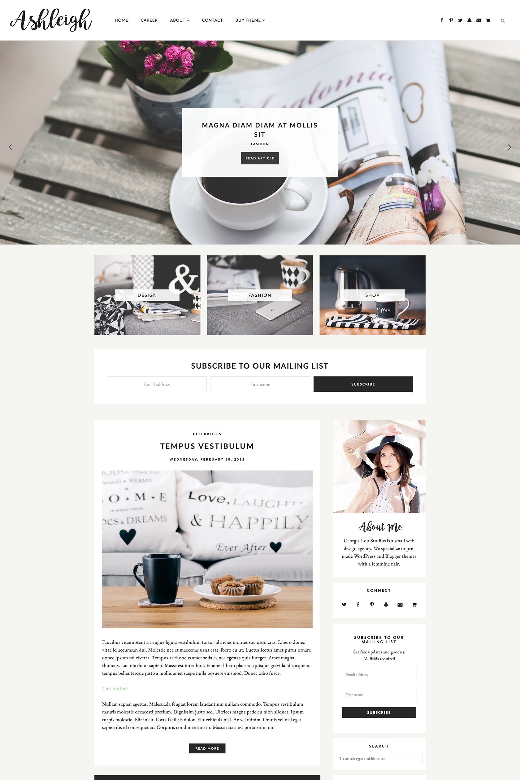 Responsive Blogger Template Ashleigh Website Templates Creative