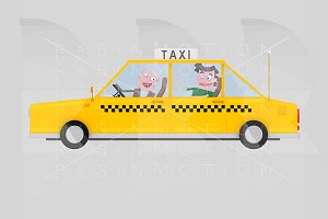 Taxi driver working