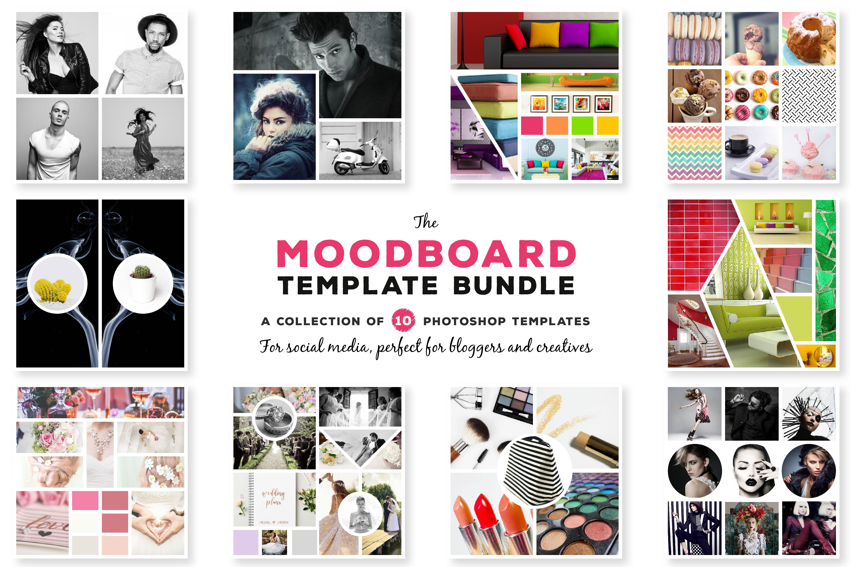 mood board templates social media templates creative market. Black Bedroom Furniture Sets. Home Design Ideas