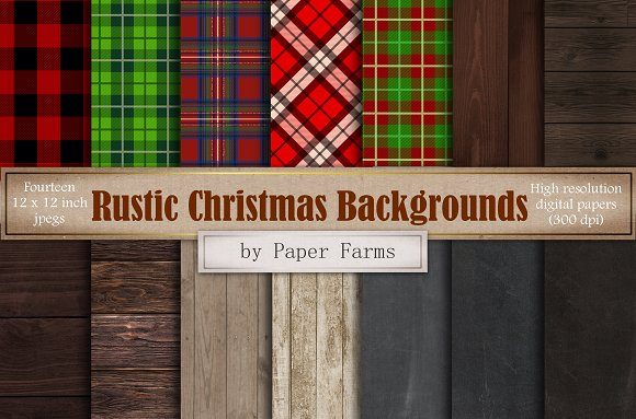 Rustic Christmas Backgrounds