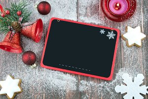 Christmas blackboard