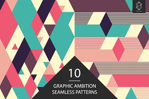 Graphic ambition seamless patterns