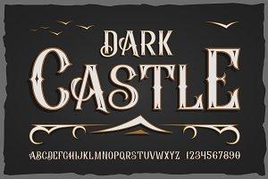 """Dark castle"" - otf font"