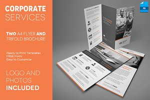 Corporate A4 Trifold and Two Flyers