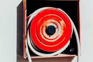 Fire hose. Modern minimal art