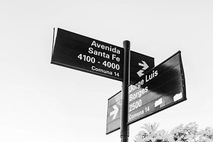 Street Sign in Buenos Aires