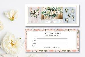 Florist Gift Card Template