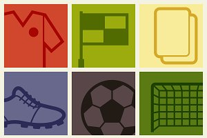Backgrounds with soccer symbols.