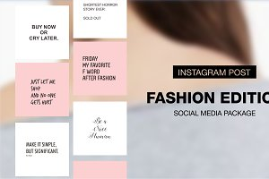 Fashion Edition - Social Media