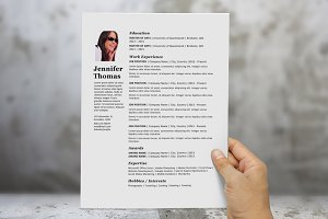 Simple photograph resume template