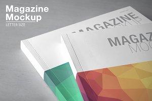 Magazine Mockup / Letter Size