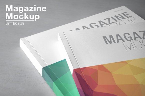 Download Magazine Mockup / Letter Size