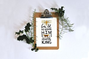 Come Adore the King Star and Manger