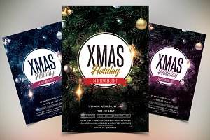 X-Mas Holidays - PSD Flyer Template