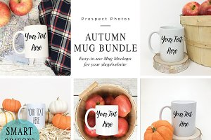Autumn Mug Mock up Photo Bundle
