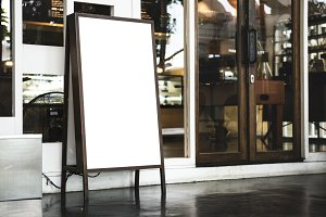 White board sign mockup(PNG)