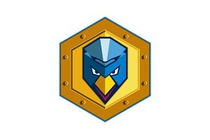 Cyber Punk Chicken Hexagon Icon