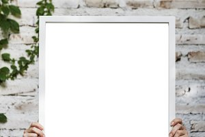White mockup board (PNG)